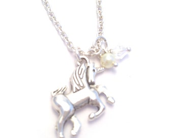 Childrens Silver Unicorn Necklace   Handmade Childrens Jewellery UK   Unicorn Jewellery