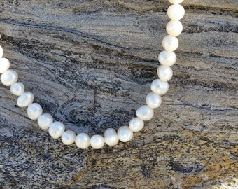 Classic pearls ~ 20 in with button clasp