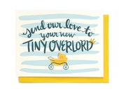 Tiny Overlord Baby Card