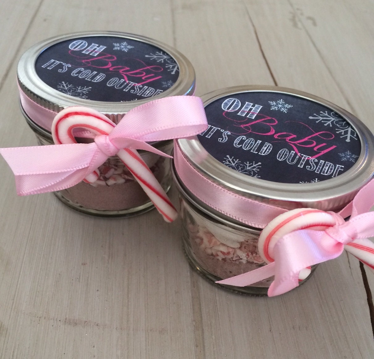 hot chocolate baby shower wedding favor with chalk label