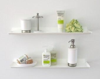 Slim Wall Shelf - White