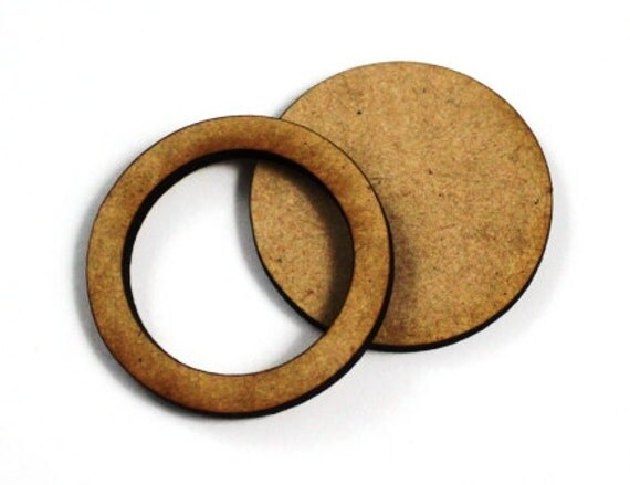 1 Large Craft Wood Bezel Circle Frames, 250 mm Wide, lasercut wood