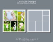 12 x 12 Photo Collage Template - 4