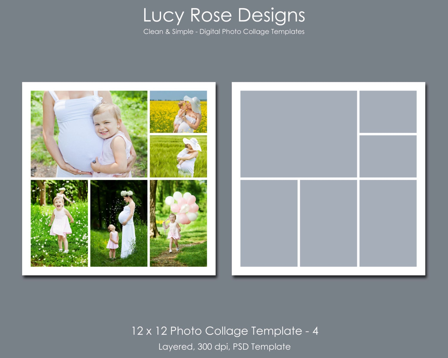 4 picture collage template - 12 x 12 photo collage template 4