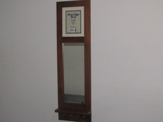 Entryway mirror shelf key holder and holds 8 by 10 by for Mirror key holder