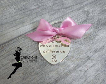 Pink Awareness Keychain | Breast Cancer Keychain | Pink Keychain | Awareness Keychain | Awareness Accessory |  Pink Ribbon Keychain