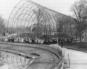 Flying Cage, Bronx Zoo in 1907 - Vintage Photo Art Print, Ready to Frame!