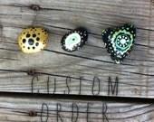 Set of 5 Painted Stones : Custom Design