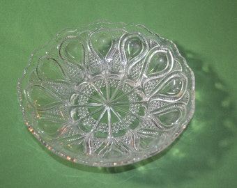 ON SALE  Beautiful Vintage Pattern Glass Bowl