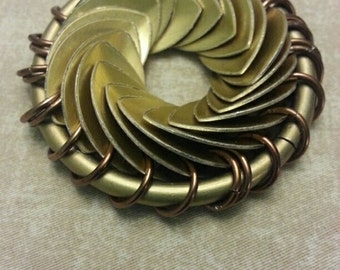 Infınıty Necklace With Golden Colored Scales