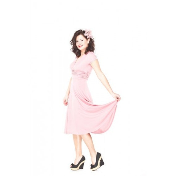 Dusty pink Office dress, Pin Up dress, Day by day dress