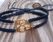Matching Handcuffs Bracelets Friendship Bracelets Couples Bracelets