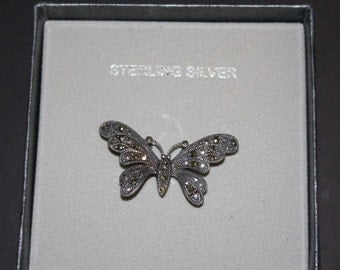Vintage Sterling Silver Butterfly Pin