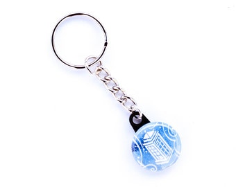 Doctor Who Keychain // Tardis Keychain // Choose From Eleven Doctor Who Designs