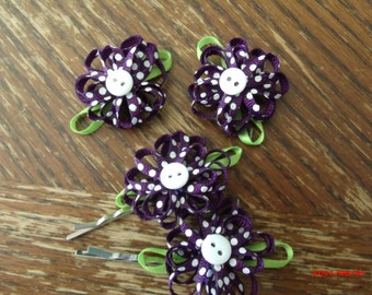 Buttons and Bows for Heaven Shoe Clips 4 piece set