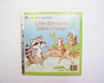 A Big Little Golden Book: Little Raccoon Takes Charge (1986) - Children's Story Book