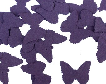 Purple Butterfly Shaped Plantable Seed Paper Confetti, Wildflower Seed, Recycled Paper  - 100 Pack