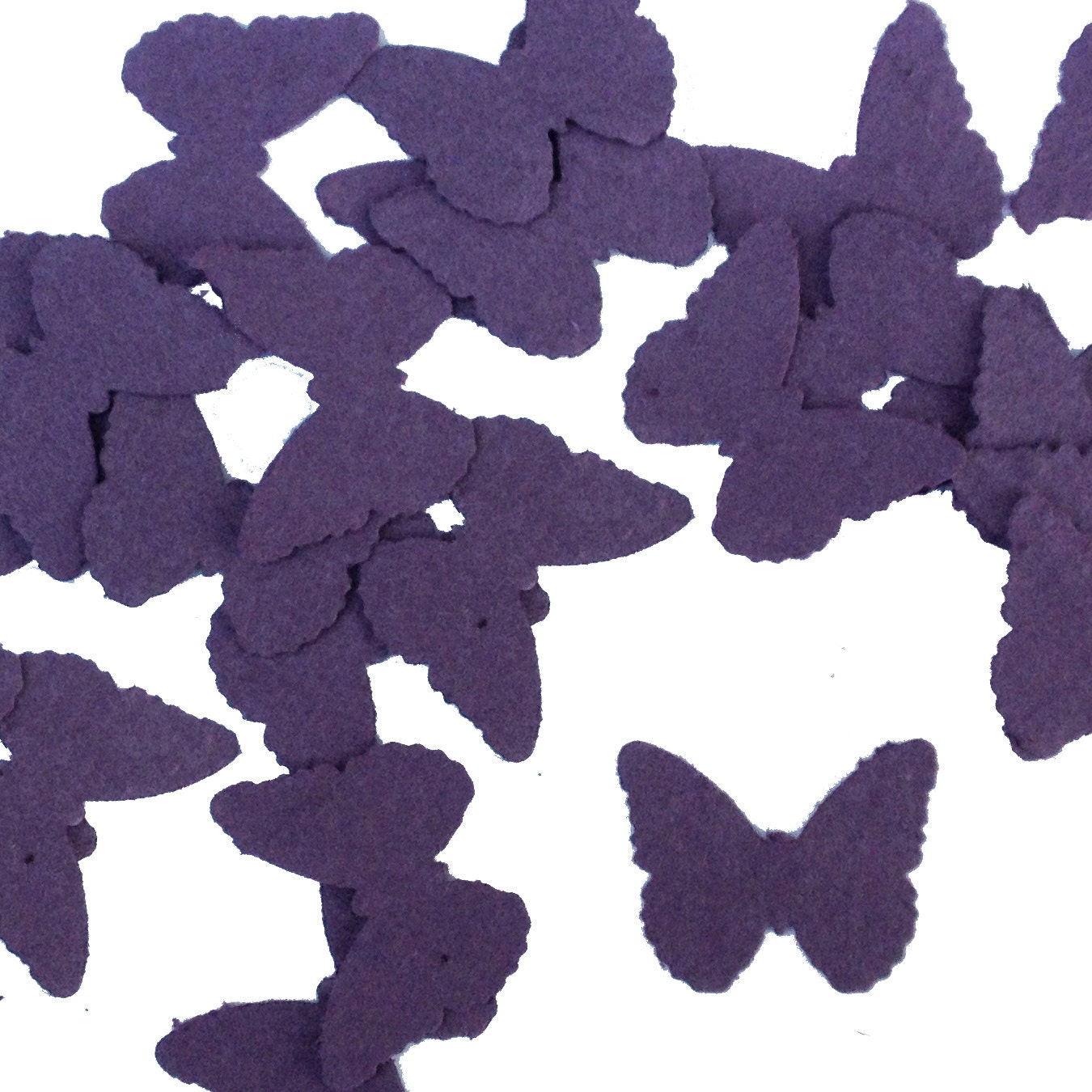 Purple Butterfly Shaped Plantable Seed Paper Confetti