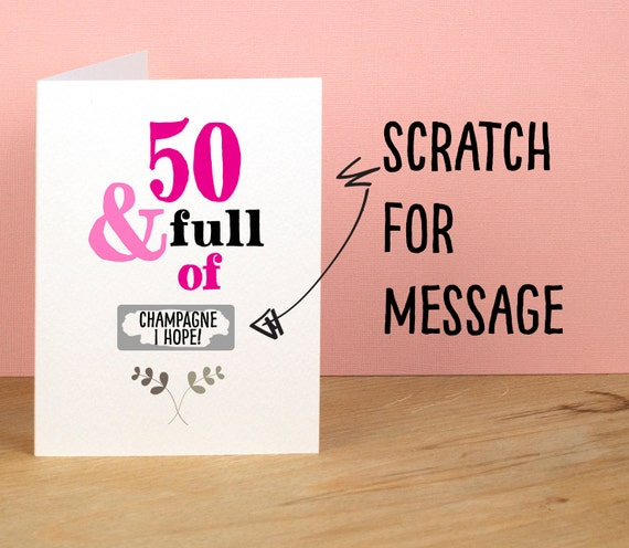 50th Birthday Card 50 and Full of Rude Sarcastic Humorous – Words for a 50th Birthday Card
