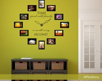 Wall sticker Time spent with family (3628n)