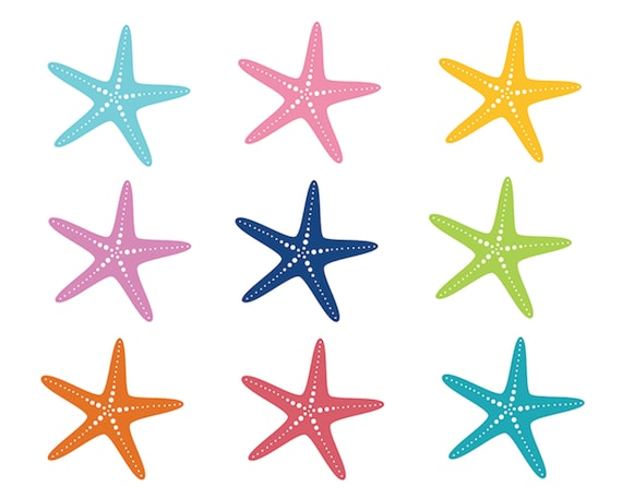 60 off sale nautical clipart starfish clip art sea ocean fish rh etsy com starfish clip art pictures starfish clipart black and white