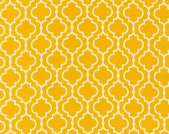 Quatrefoil Tiles in Marigold - 1/2 yard -  Metro Living by Robert Kaufman