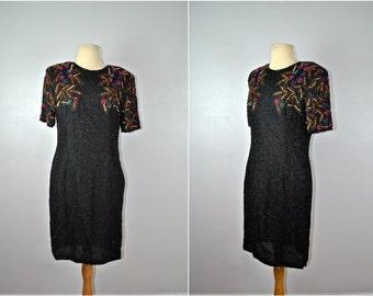 Stenay Beaded Dress, Vintage Beaded Dress, Formal Beaded Dress