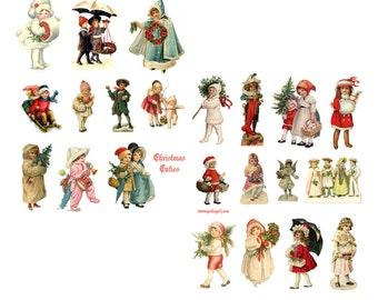 Christmas Cuties Digital Collage Set