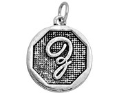 3 pcs. Letter Z Charms. Letter Z Pendants. Silver Letter Z Monogram Charm. Script Letter Z charm.  Alex and Ani Inspired charm