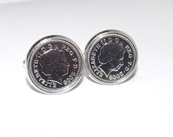 11th Anniversary Steel Wedding Anniversary 2006 coin cufflinks - for a wedding in 2006 anniversary, Mens gift, Wedding in 2006, 2006, 11th