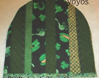 GREEN TEA COZY St Patrick Quilted Patchwork Holiday Kitchen Home Décor