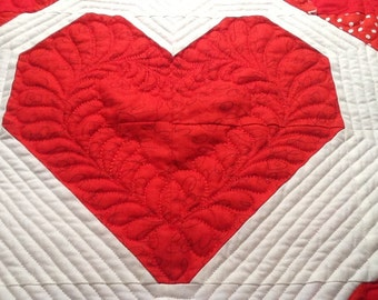 Valentine's Heart Table Topper