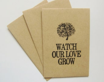 Watch Our Love Grow-Rustic Wedding Favors-Wedding Seed Packets-Unique Wedding Favors-Weddings-Shabby Chic-Wedding Reception-Rustic Weddings