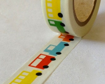 "SALE Washi Tape ""Car-Toon""  15mm x 10 meters"