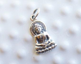 Sterling Silver Buddha Charm -- 1 Piece...  925 Faith