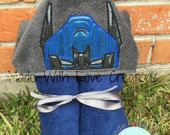 Robot Heros Inspired Hooded Towels