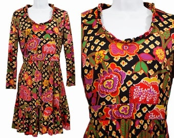 Vintage 60's AVALON CLASSICS INC. Floral Pattern Dress S/M