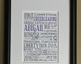 Personalized Sports Print- Cheerleading