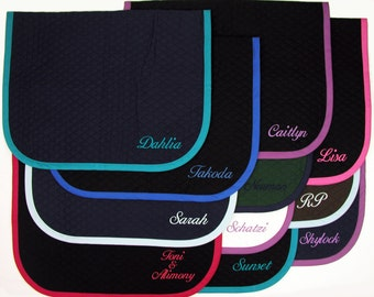 """English Baby Saddle Pad - Horse Size 26""""x40"""" - Custom Made with Personalized Embroidery by BobbiGee's"""