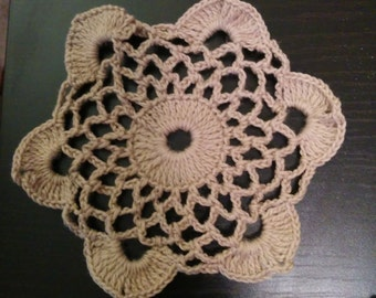 Small lace round oval cream table doily napkin cover placemat centerpiece