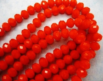 36pcs 6x8mm Orange Crystal Rondelles OPAQUE Swarovksi Imit A GRADE Diy Jewelry Making Beads & Supplies