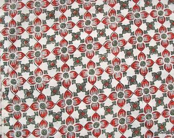 Floral Print Cotton Fabric Handprinted Vegatable Dye Kalamkari Fabric Sold by Yard