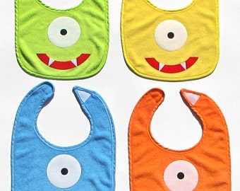 Monster Face// Bib//Colored//Boy//Girl//Baby Shower Gift//Photo Prop