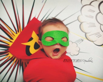 Newborn Robin Superhero Costume for Baby Boy, Photography Prop, Newborn Halloween Costume, DC Comics, Boy Superhero, Handmade Hero Costume
