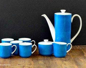 Made in Japan, complete tea set for five (teapot, teacups, milk jug, sugar bowl)