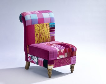 Bridget Accent Chair in Patchwork upholstery
