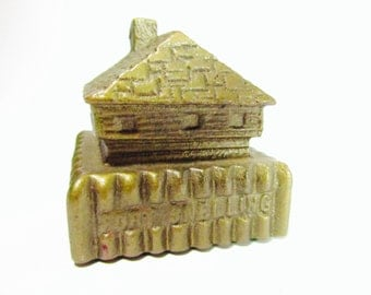 Cast iron fort snelling paper weight