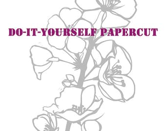 Cherry Blossoms Do It Yourself Papercut