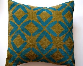 Block print pillow cover