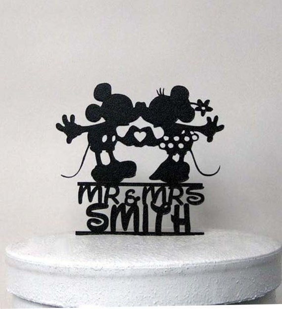 mickey and minnie silhouette wedding cake topper custom wedding cake topper mickey and minnie silhouette 17345